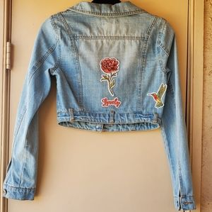 🦋 90's Patched Jean Jacket 🦋